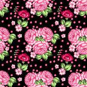 Seamless floral zhostovo pattern — Stock Vector