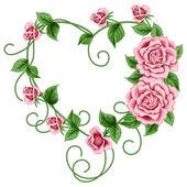 Corona de rosas — Vector de stock