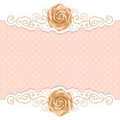 Retro background with roses — Stock Vector