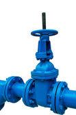 Синий трубопровода — Стоковое фото