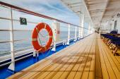 Orange life vessel on cruise — Stock Photo
