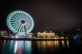 Ferris in yokohama at night — Stock Photo