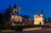Freedom Square in Ternopil (Ukraine) — Stock Photo