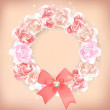 Pink floral wreath — Stock Vector #57953475