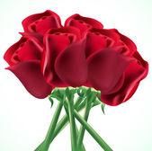Ramo de rosas rojas — Vector de stock