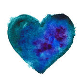 Coração azul. — Vetorial Stock