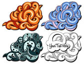 Backgraund graffiti tentacles — Stock Vector