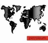 World oil spill. — Stock Vector