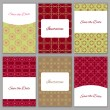 Set of save the date templates — Stock Vector #74508543