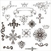 Set of  hand-drawn design elements — Stock Vector