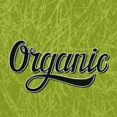 Organic typography illustration on green — Stock Vector