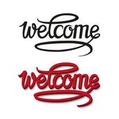 Welcome typography design — Stock Vector