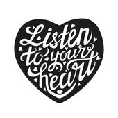 Listen to your heart card — Stock Vector