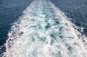 Boat trail in the sea — Stock Photo