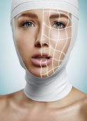 Woman in process of surgery scanning — Stock Photo