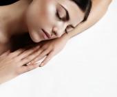 Beautiful sleepy woman — Stock Photo