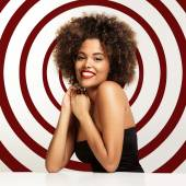 Woman with afro hair — Stock Photo
