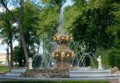 Fountain Koronny in Summer Garden, Saint Petersburg, Russia — Stock Photo