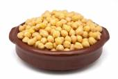 Casserole of chickpeas cooked — Stock Photo