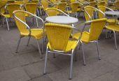 Mesas y sillas — Foto de Stock