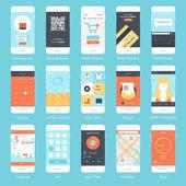 Mobile UI. — Stock Vector