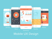 Mobile UX. — Stock vektor