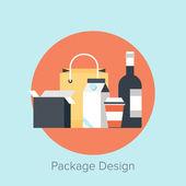 Progettazione del pacchetto — Vettoriale Stock