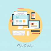 Web Design and Development — Vetorial Stock