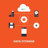 Data Storage — Stock Vector
