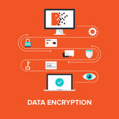 Data Encryption — Stock Vector