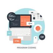 Program Coding. — Stock Vector