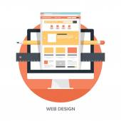 Web Design and Development — Stock vektor