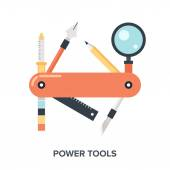 Power Tools. — Stock Vector