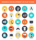 Design and Development Icons. — Stock Vector