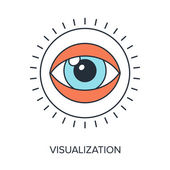 Visualization — Stock Vector