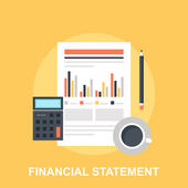 Financial Statement — Stock Vector