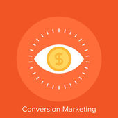 Conversion Marketing — Stock Vector