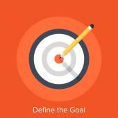 Define the Goal — Stock Vector
