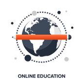Online education — Stock Vector