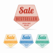 Vintage sale - bestseller sticker — Stock Vector
