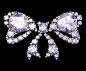 Diamond bow on black (high resolution 3D image). — Stock Photo