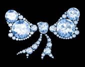 Алмазный лук на черном (3d изображение высокого разрешения). — Стоковое фото