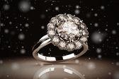 Gold wedding ring — Stock Photo