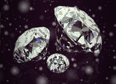 Shiny bright diamond on background ( Vintage Style) — Stock Photo