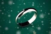 Gold wedding ring on background ( Vintage Style) — Stock Photo
