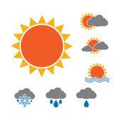 Olika väder ikoner — Stockvektor