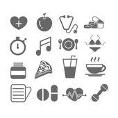 Set di icone mediche — Vettoriale Stock