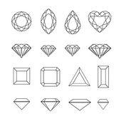 Set of diamond design elements — Stock Vector