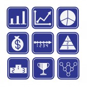 Collection of Business Icons — Stock Vector