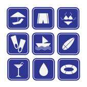 Set of Summer Icons — Stock Vector